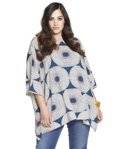 BETH DITTO | Printed Stretch Rayon Tunic Top