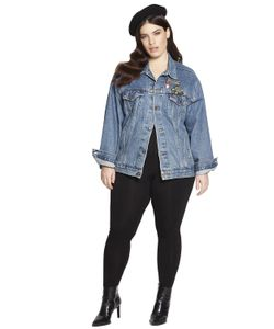BETH DITTO | Embroidered Vintage Denim Jacket