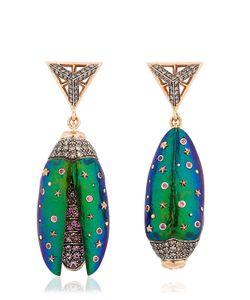 Bibi Van Der Velden | Scarab Drop Earrings