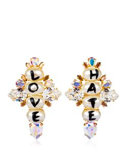 BIJOUX DE FAMILLE | Love Hate Cross Earrings