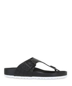Birkenstock | Ramses Croc Embossed Leather Sandals