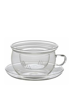 BITOSSI HOME | Glass Teacup With Saucer Filter