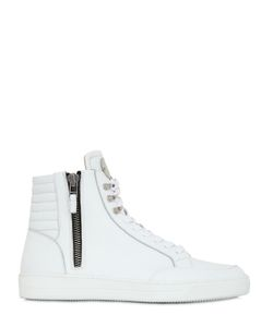 BI.Plus | Zip-Up Leather High Top Sneakers