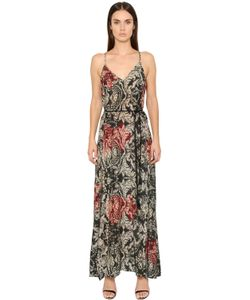BLACK CORAL | Floral Printed Cotton Voile Long Dress