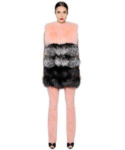 Blancha | Color Blocked Fox Fur Vest