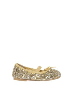 Bloch   Glittered Leather Ballerina Flats