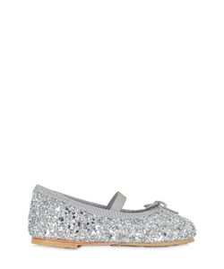 Bloch   Glittered Leather Ballerinas