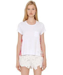 Blugirl | Viscose Jersey Silk Crepon T-Shirt