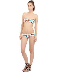 Blugirl Beachwear | Heart Printed Lycra Bandeau Bikini