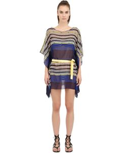 Blugirl Beachwear | Printed Techno Chiffon Dress/Cover Up