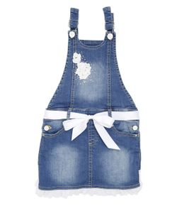 Blumarine Jeans | Denim Overalls With Ruffle Detail