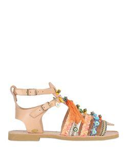 BONBON | Minerva Embellished Leather Sandals