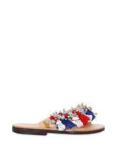 BONBON | Dalmatians Leather Flip Flops