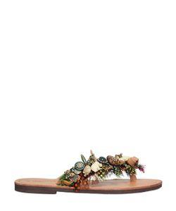 BONBON | Jungle Dream Feathers Leather Sandals
