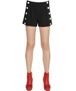 BOUTIQUE MOSCHINO | Techno Crepe Shorts With Buttons