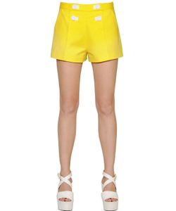 BOUTIQUE MOSCHINO | Stretch Cotton Satin Shorts