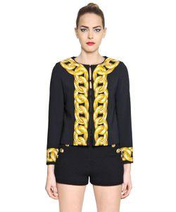 BOUTIQUE MOSCHINO   Chain Printed Techno Crepe Jacket
