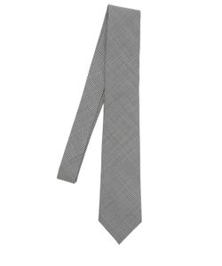BRAM | Micro Houndstooth Tie W/ Floral Tipping