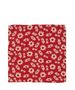 BRAM | Floral Printed Silk Pocket Square