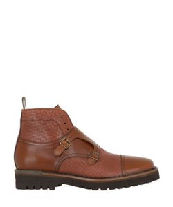 Brimarts | Double Monk Strap Leather Ankle Boots