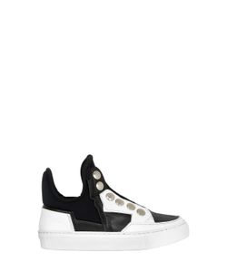 BRUNO BORDESE NEXT GENERATION | Neoprene Leather Slip-On Sneakers