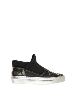 BRUNO BORDESE NEXT GENERATION | Neoprene Leather Slip On Sneakers