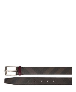 Burberry | 30mm Check Printed Faux Leather Belt