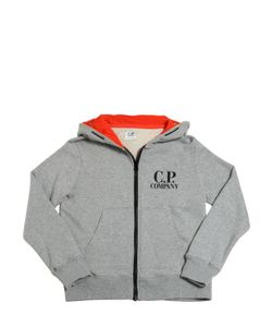C.P.COMPANY UNDERSIXTEEN | Hooded Cotton Sweatshirt With Goggles