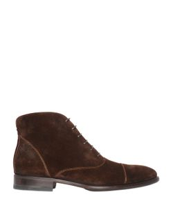 CALZOLERIA TOSCANA | Lace-Up Suede Ankle Boots