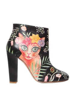 CAMILLA ELPHICK | 105mm Cat Printed Leather Ankle Boots