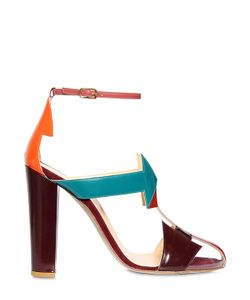 CAMILLA ELPHICK | 105mm South Pvc Patent Leather Sandals