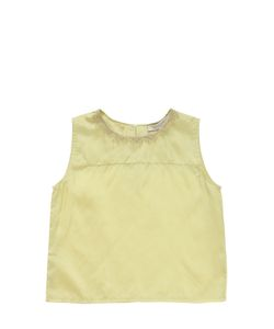 CARAMEL BABY AND CHILD   Silk Satin Top With Lace Details