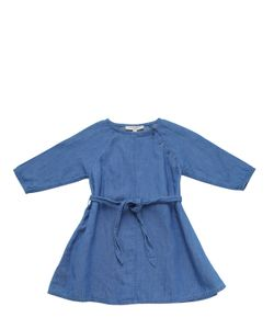 CARAMEL BABY AND CHILD   Cotton Linen Blend Chambray Dress