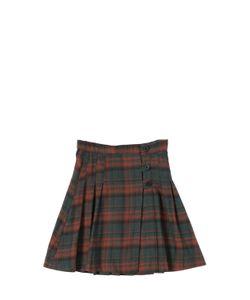 CARAMEL BABY AND CHILD   Plaid Flannel High Waist Skirt