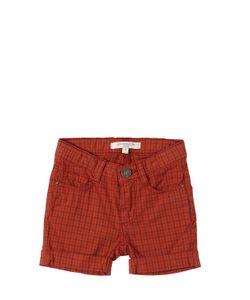 CARAMEL BABY AND CHILD   Plaid Stretch Cotton Poplin Shorts