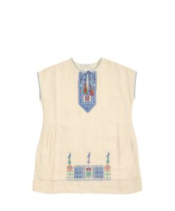 CARAMEL BABY AND CHILD   Embroidered Cotton Muslin Dress