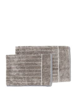 CARRARA | Sheraton Set Of 2 Striped Cotton Towels