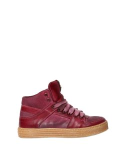 CARTA VETRATA | Leather High Top Sneakers