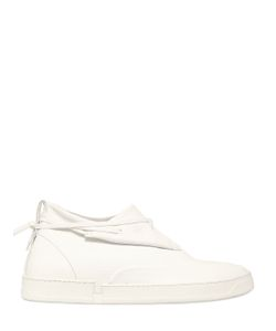 CASBIA | Matte Leather Mid Top Sneakers
