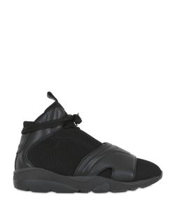 CASBIA | Blake Leather Mesh High Top Sneakers