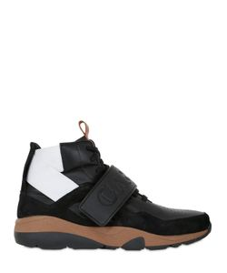 CASBIA | Reeve Leather Suede High Top Sneakers