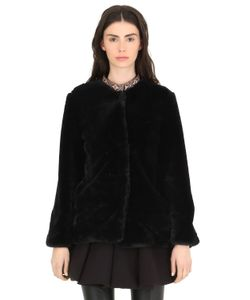 CC BY CAMILLA CAPPELLI | Faux Fur Coat With Embroidered Trim