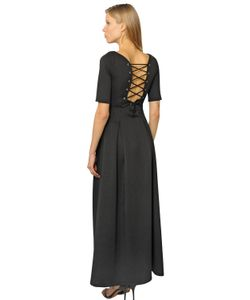 CC BY CAMILLA CAPPELLI | Lace-Up Light Neoprene Dress