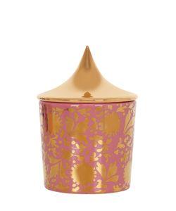 CERAMICA GATTI 1928 | Pink Gold Floral Design Candle W/ Lid
