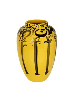 CERAMICA GATTI 1928 | Lvr Yellow Black Ceramic Vase