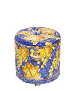 CERAMICHE PUGI | Baccanti Hand-Painted Ceramic Ottoman
