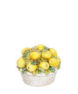 CERAMICHE PUGI | Sicily Lemon Basket Ceramic Décor