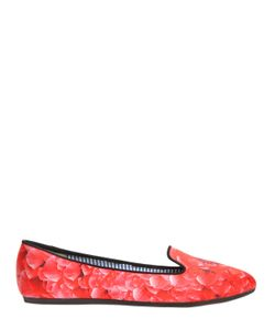 Charles Philip | 10mm Floral Printed Silk Satin Flats