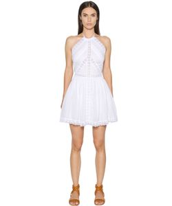 Charo Ruiz | Cotton Voile Lace Halter Neck Dress