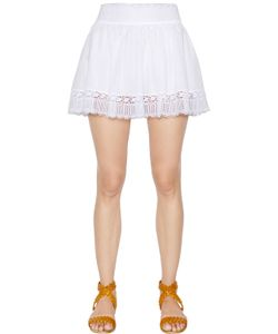 Charo Ruiz | Cotton Voile Lace Mini Skirt